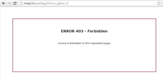 Simon_Gabor_MSZP_parttag_forbidden.jpg