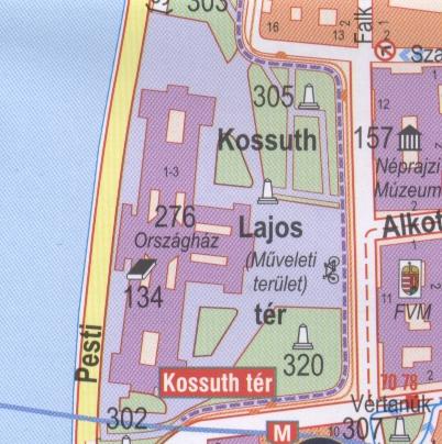 Kossuth tér (műveleti terület) térképen
