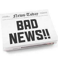 A rossz hírek hete...