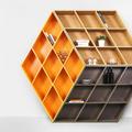 Könyvespolc, amit a Rubik-kocka inspirált