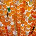 Lámpainstalláció gyógyszeres üvegekből - Jean Shin