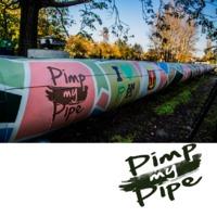 Pimp my Pipe finálé - Újpesti térképrészletet festett a Színes Város egy távhővezetékre