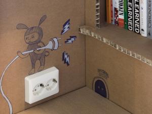 Kartonból eléggé dögös iroda - Nothing Cardboard Office