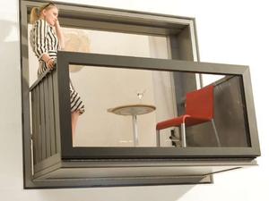 Ablakból egy gombnyomásra szupererkély - Bloomframe balcony