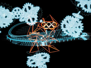 London 2012 Olympic 'Velodrome' - Animation by Chemical Brothers + Crystal CG
