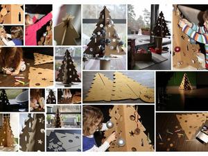 Karton karácsonyfa Vimola Dórától + JÁTÉK