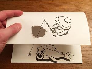 Lazító agymasszázs háromdimenziós rajzokkal