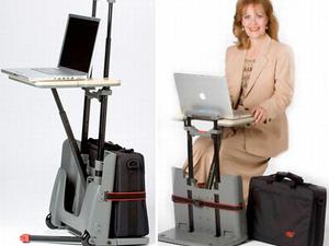 Üzletembereknek - itt a hordozható irodai asztal