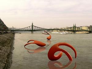 Hatalmas szobrok úsznak idén nyáron a Dunán