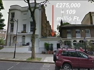 Utcafronti ágy eladó Londonban, bár nem annyira olcsón...
