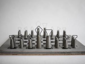 Varázslatosan böszme beton sakk-készlet