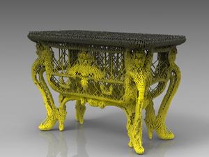 3D-nyomtatott komód XIV. Lajos udvarából