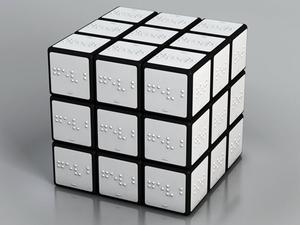 Színes Rubik-kocka vakoknak