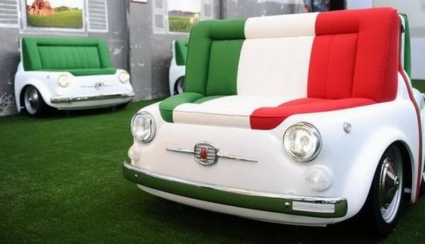 Fiat 500 a szobában