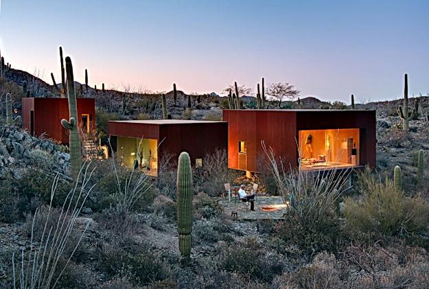 Kaktuszok, végtelenség, intimitás... - Desert Nomad House: Tucson / Arizona