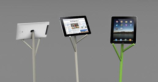 iPad fészek az almafa tetején