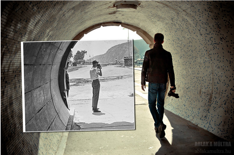 Budapest V. Lánchíd pesti hídfője gyalogos alagút1963.png