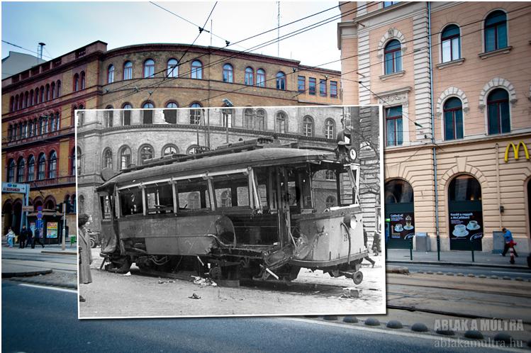 Budapest VIII. Népszínház utca - József körút sarok, egykori ipari felsőiskola 1956.png