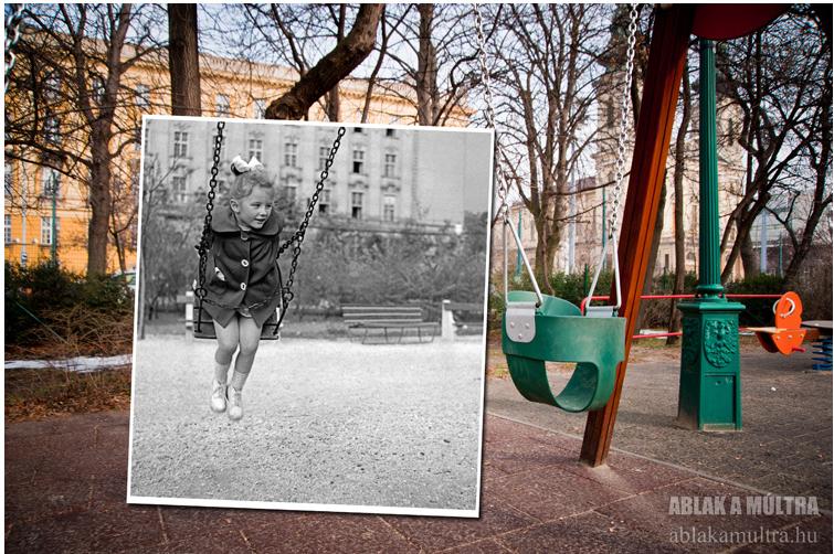 Budapest XI. Villányi út háttérben a Szent Imre (József Attila) Gimnázium 1959.png