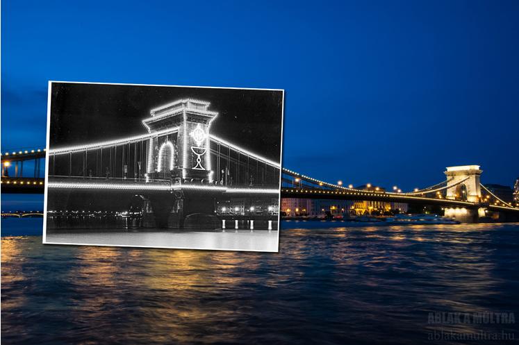 Budapest, Lánchíd, díszkivilágítás a 34. Eucharisztikus Világkongresszus alkalmával.png
