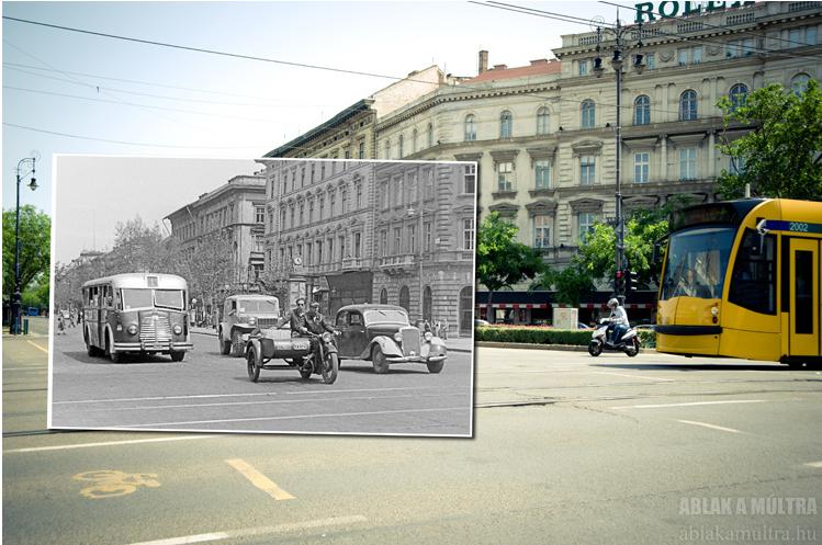 Budapest, VI. Andrássy út az Oktogontól kifelé nézve 1951.png