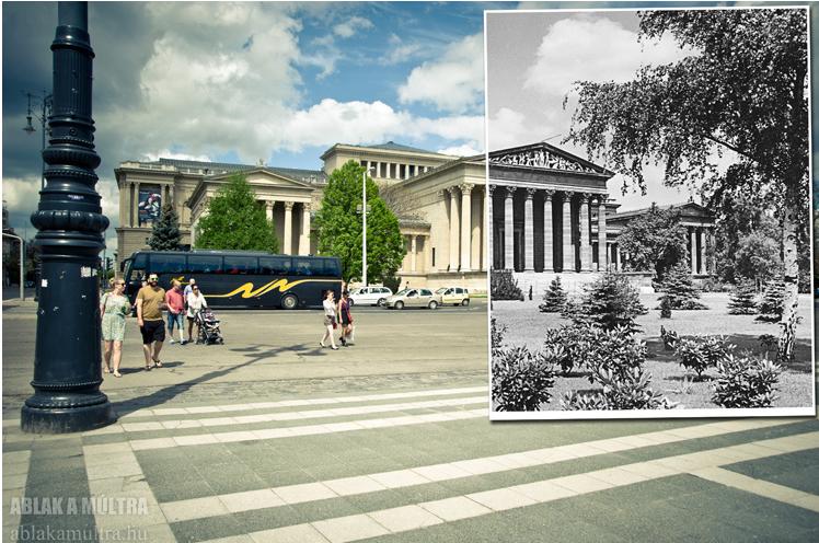 Budapest, XIV. Hősök tere, Szépművészeti Múzeum 1936 - 2013.png