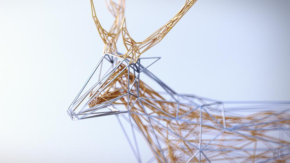 Fenséges geometrikus állatsereglet aranyló lélekkel