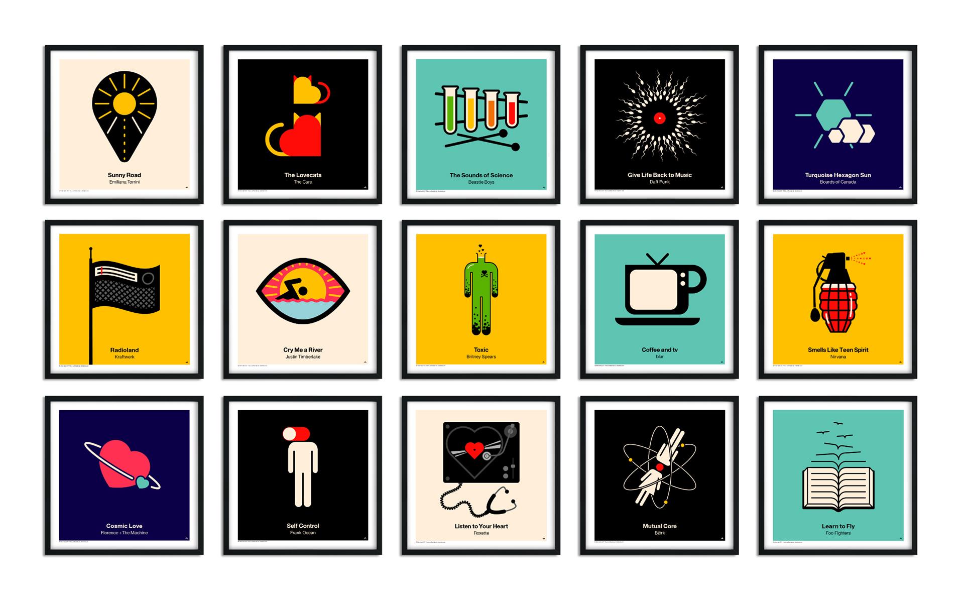 Kedvenc dalaink minimalista posztereken