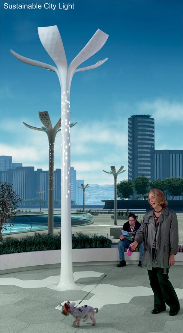 Virágokat utánoz az új utcai lámpa