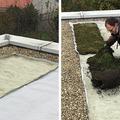Kis teherbírású tető bezöldítése