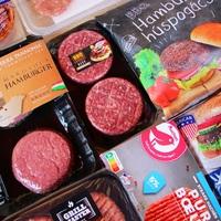 Nagy hamburger húspogácsa teszt