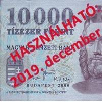 Már csak 2019-ben fizethetünk a régi tízezressel!