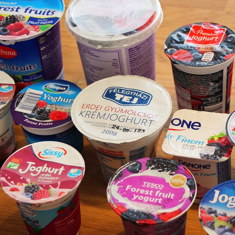 Nagy gyümölcsös joghurt teszt