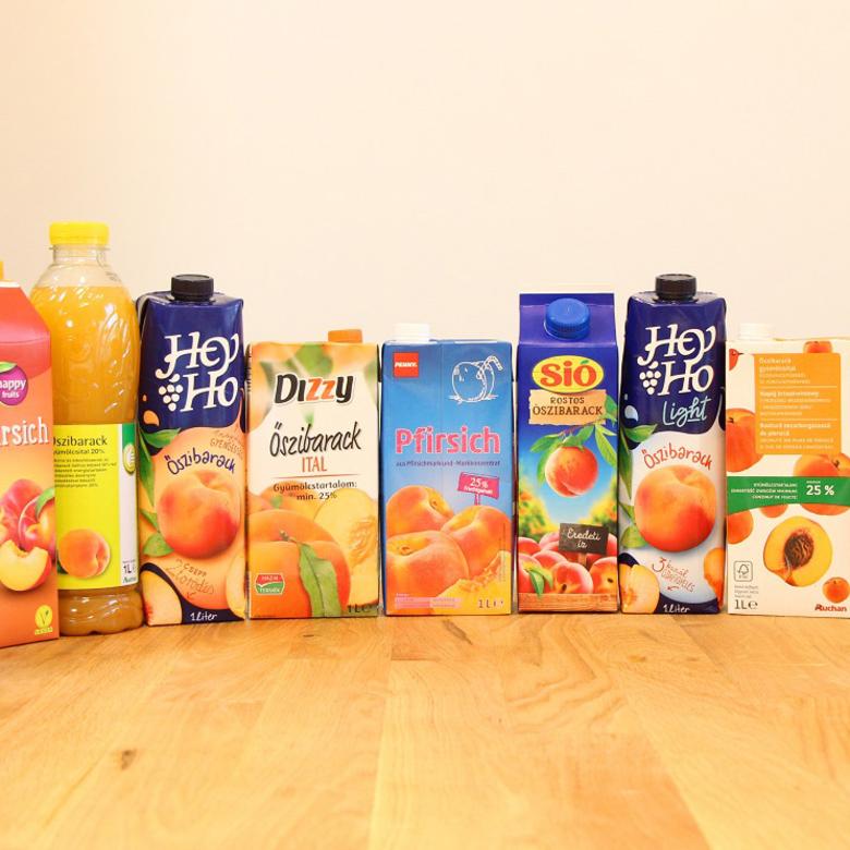 Őszibarack gyümölcsital teszt: melyik a legbarackosabb?