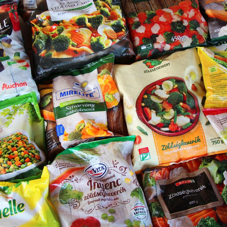 Fagyasztott zöldségkeverék teszt