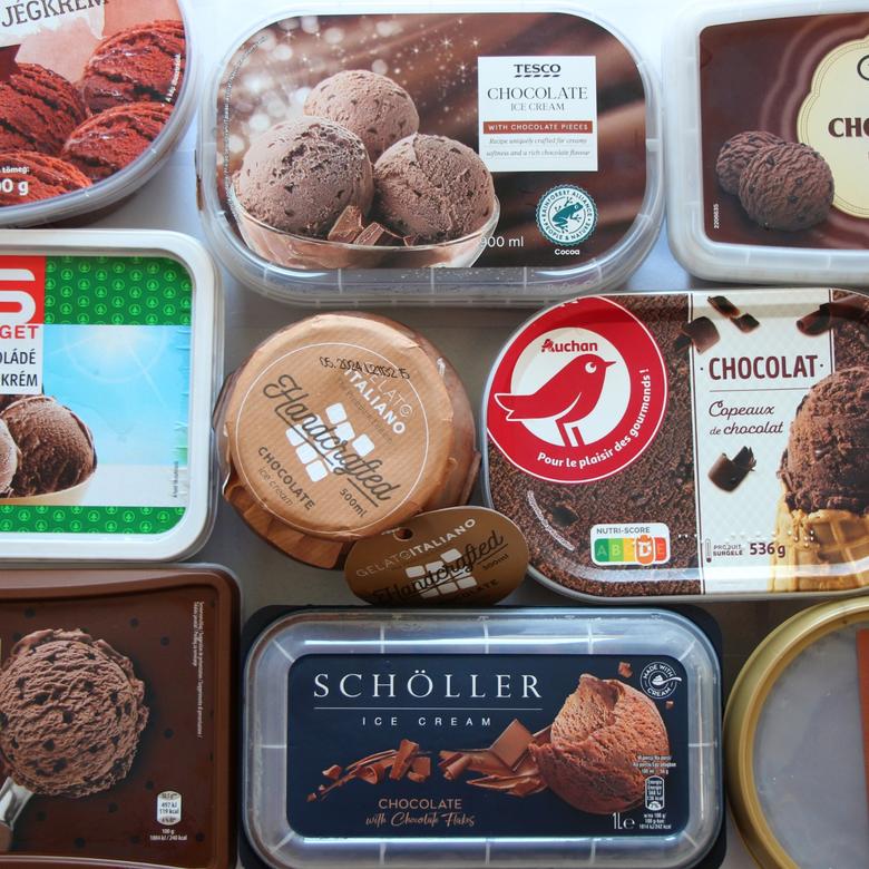 Nagy csokoládé jégkrém teszt