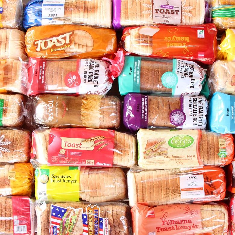 Nagy toast kenyér teszt