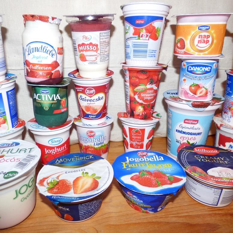 Nagy epres joghurt teszt