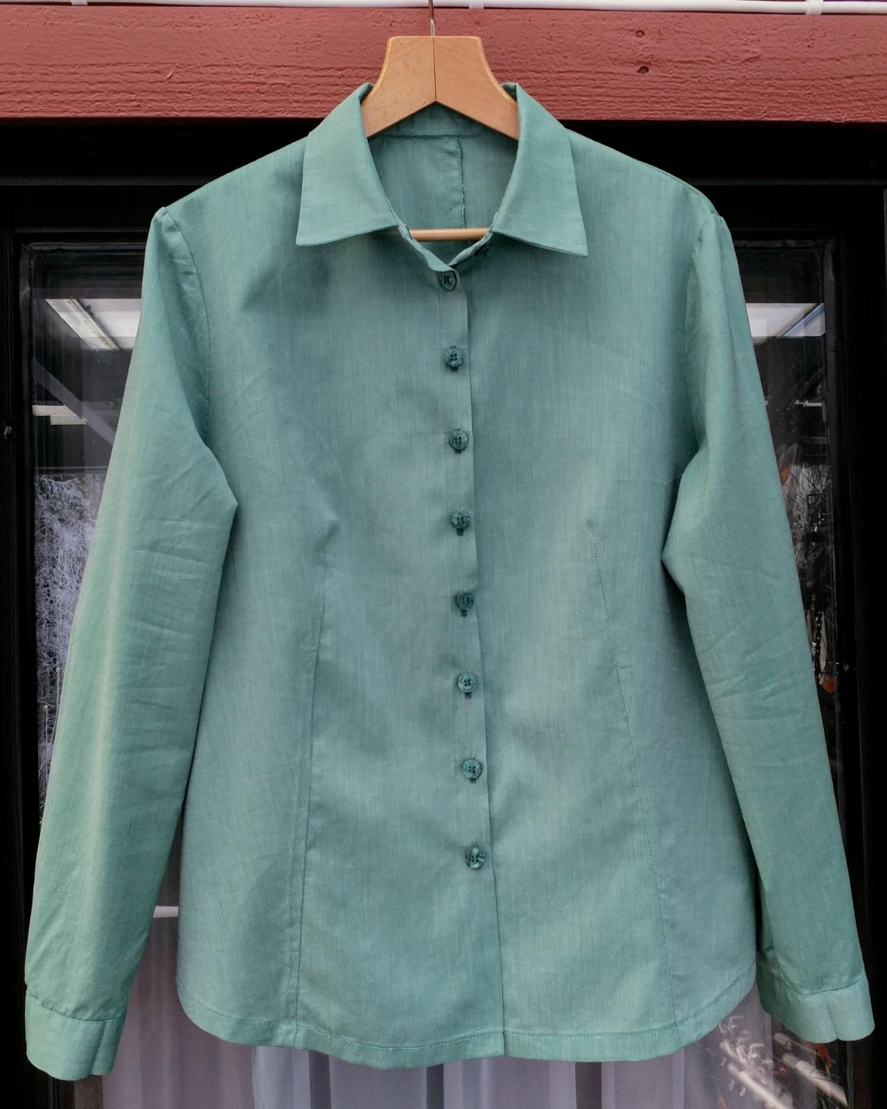86eceb95f8 Zöld egyszínű blúz - Marcsi & Miki kreatív blogja