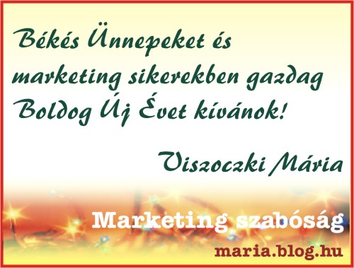Békés Ünnepeket kíván a Marketing Szabóság!