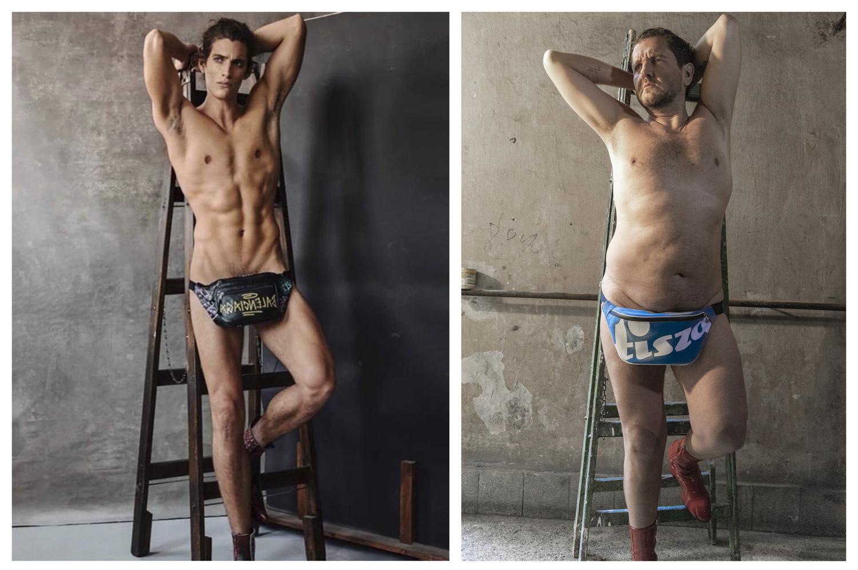 Tar Andris modell (WAM Male Modelagency) Balenciaga hasitasival