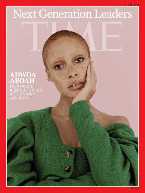 Adwoa Aboah elnyerte a Model of the Year címet a 2017-es British Fashion Awards díjátadón.