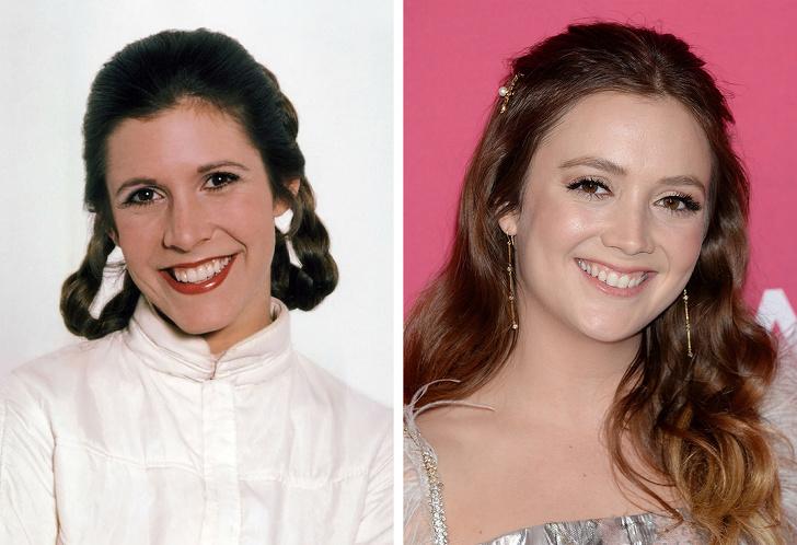 Carrie Fisher és a lánya, Billie Lourd - mindketten a 20-as éveikben