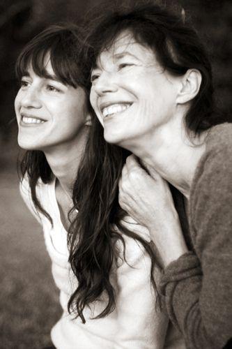 Jane Birkin és lánya, Charlotte Gainsbourg