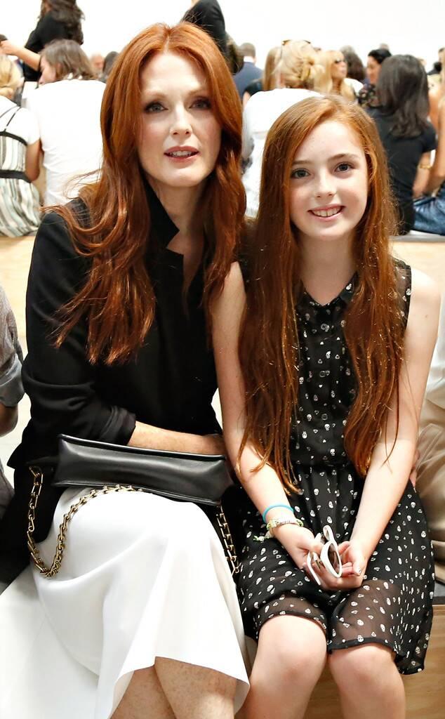 Julianne Moore és a kislánya, Liv egy pár évvel ezelőtt