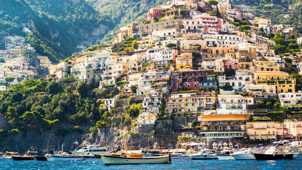 Positano az Amalfi-parton, Olaszországban
