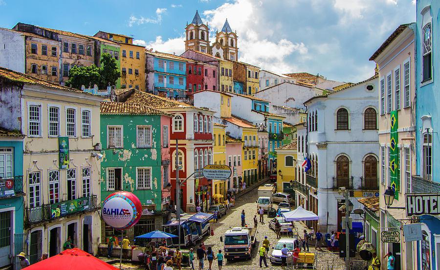 Pelourinho, Salvador történelmi városnegyede Brazíliában
