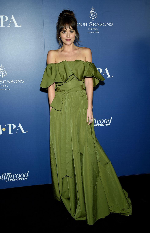 Dakota egy HFPA eseményen, Valentino ruhában
