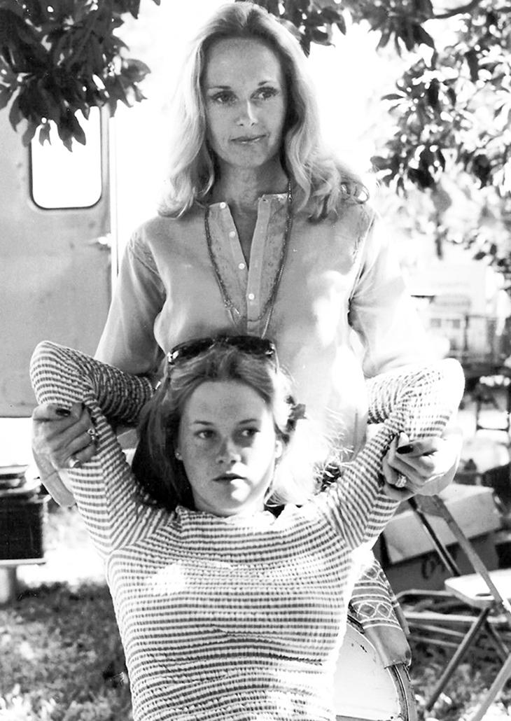 Tippi és Melanie a 70-es években