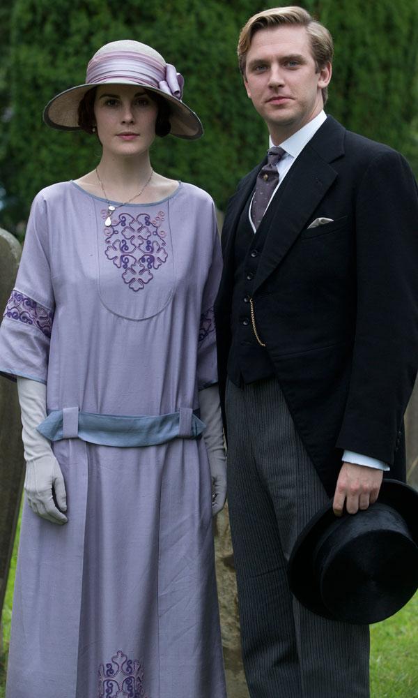 Mary és Matthew tökéletesen passzoló ruhákban